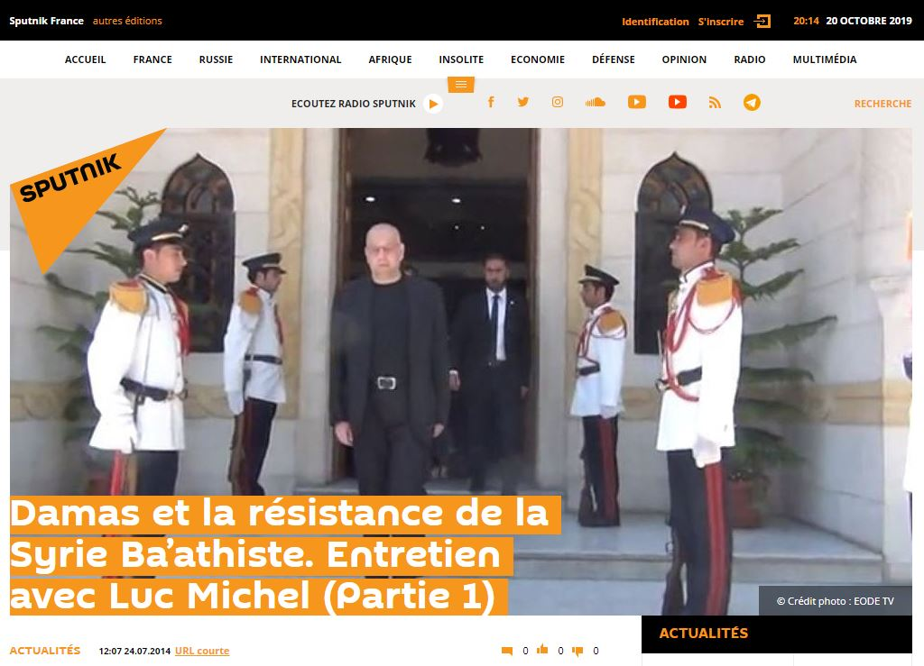 RELIRE SPUTNIK - LM interview 1 syrie